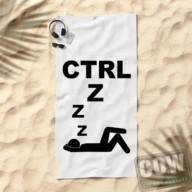 student aan huis - CTRL Z handdoek COW