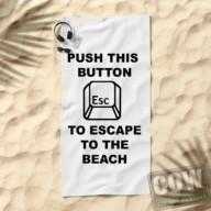 student aan huis - escape beach handdoek COW