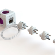 PowerCube Rewirable DUO USB Orchid Purple sockets cable