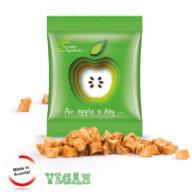 Veganistisch snoep gedroogde appelstukjes