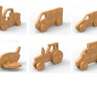 Houten speelgoed auto bamboe