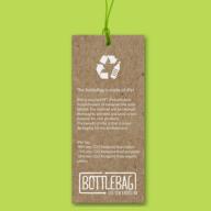 Tas van gerecyclede flessen bottlebag tag
